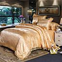 povoljno Luksuzni poplune-vjenčanje europske čipke saten jacquard list 4 komada posteljinu set