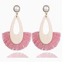ราคาถูก สร้อยข้อมือ-สำหรับผู้หญิง ขาว Drop Earrings ต่างหู Raffia คลาสสิค ความกล้าหาญ ง่าย คลาสสิก Tropical อินเทรนด์ ที่ทันสมัย เรซิน ต่างหู เครื่องประดับ แอ็ช / แดง / สีชมพู สำหรับ ของขวัญ ทุกวัน Street ฮอลิเดย์ เทศกาล