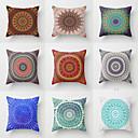 baratos Oferta-1 peça hippie mandala boho arco íris padrão floral almofada tampa do círculo do vintage sofá home decor lance fronha