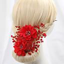 povoljno Party pokrivala za glavu-Opeka / Umjetno drago kamenje / Legura Cvijeće s Štras / Cvijet 1 komad Vjenčanje Glava