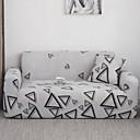 זול כיסויים-כיסוי ספה עם כיסויי ספה תערובת כותנה / פוליאסטר צבוע בחוט / תבנית משולשת / גיאומטרית / צבע אפור