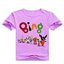billige Piketopper-Barn Baby Jente Grunnleggende Trykt mønster Trykt mønster Kortermet Bomull T-skjorte Rosa