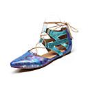 ราคาถูก รองเท้าเต้นโมเดิร์นและรองเท้าบัลเล่ต์-สำหรับผู้หญิง รองเท้าเต้นรำ PU โมเดอร์น MiniSpot ส้นเรียบ ส้นแบน ตัดเฉพาะได้ สีดำ / ฟ้า / Nude / ฝึก