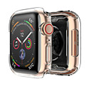 povoljno Slučaj Smartwatch-Silikonski poklopac slučaj za jabuka sat bend 4 44mm 40mm mekani ultra-tanki jasan okvir
