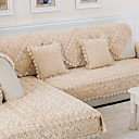 זול כיסויים-כרית הספה אחיד מובלט / מקבץ / מרופד צמר פלנל / תערובת כותנה\פוליאסטר כיסויים