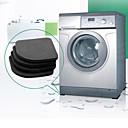 זול מחצלות ושטיחים-מכונת כביסה אנטי רטט כרית מחצלת ללא להחליק הלם רפידות מחצלות מקרר 4pcs / set אמבטיה אביזרים אמבטיה שטיח