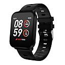 billige Smartwatch Bands-k10 smart klokke bt fitness tracker støtte varsle og hjertefrekvensmonitor kompatibel Samsung / Sony Android Mobiles & iPhone