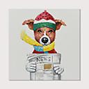 billiga Djurporträttmålningar-Hang målad oljemålning HANDMÅLAD - Popkonst Moderna Inkludera innerram