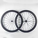Χαμηλού Κόστους Καλύμματα για το τιμόνι αυτοκινήτου-700CC Σετ Τροχών Ποδηλασία 23 mm Ποδήλατο Δρόμου Πλήρες Carbon Σωληνοειδές F:20 R:24 Ακτίνες 50 mm