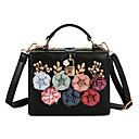 ราคาถูก กระเป๋าสะพายข้าง-สำหรับผู้หญิง เข็มกลัด / ดอกไม้ หนัง / PU กรเป๋าหิ้ว พิมพ์ดอกไม้ สีดำ / แชมเปญ / สีแดงชมพู / ฤดูใบไม้ร่วง & ฤดูหนาว