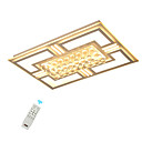 povoljno Flush Mount rasvjeta-Ecolight Kristal / Geometrijski Flush Svjetla Ambient Light Slikano završi Metal Crystal, LED 110-120V / 220-240V Meleg fehér / Bijela / Zatamnjen daljinskim upravljačem / FCC
