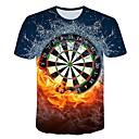 billige T-skjorter og singleter til herrer-Rund hals T-skjorte Herre - Grafisk Blå