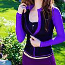 Χαμηλού Κόστους Τασάκια-LUCKYFISH Γυναικεία Προστατευτικά Μπλούζα για κολύμβηση Προστασία από τον ήλιο UV Γρήγορο Στέγνωμα Μακρυμάνικο Μποστινό Φερμουάρ - Κολύμβηση Καταδύσεις Patchwork Φθινόπωρο Άνοιξη Καλοκαίρι