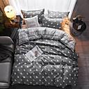 זול מיטות כלבים & שמיכות-רך הפיך דפוס גיאומטרי מודפס פוליאסטר כיסוי שמיכת קובע 4 כלי מצעים ערכות