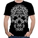 billiga Hundträning-Tryck, Färgblock / 3D / Grafisk T-shirt - Streetchic / drivna Herr Svart