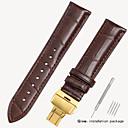 billiga Moderingar-Äkta Läder / Krokodilmönster Klockarmband Rem för Svart / Brun 18cm / 7 Specifikation / 19cm / 7.48 Specifikation 1.6cm / 0.6 Specifikation / 1.8cm / 0.7 Specifikation / 1.9cm / 0.75 Specifikation
