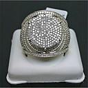 Χαμηλού Κόστους Χαραγμένο Δαχτυλίδια-Γυναικεία Δαχτυλίδι Αρραβώνων Micro Pave Ring Cubic Zirconia 1pc Χρυσό Επιχρυσωμένο Geometric Shape Στυλάτο Πάρτι Καθημερινά Κοσμήματα Κλασσικό Χαρά Απίθανο