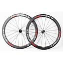 ราคาถูก ล้อจักรยาน-FARSPORTS 700CC ชุดล้อ จักรยาน 23 mm ถนน คาร์บอนไฟเบอร์ ยางงัด / ที่รองรับการทำงานของยาง 20/24 Spokes 50 mm