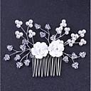 billiga Modehalsband-Legering Tiaras / Hair Combs med Glitter / Pärldetaljer 1st Bröllop / Fest / afton Hårbonad