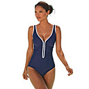 ราคาถูก สร้อยคอ-สำหรับผู้หญิง ชุดว่ายน้ำ Bodysuit ระบายอากาศ การว่ายน้ำ ฤดูร้อน