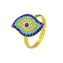povoljno Automobilski prekidači-Žene Prsten 1pc Zlato Umjetno drago kamenje Legura Stilski Jedinstven dizajn Klasik Dar Dnevno Jewelry Geometrijski Cool Lijep