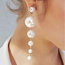 povoljno Modne naušnice-Žene Viseće naušnice Long Stilski Jedinstven dizajn Imitacija bisera Naušnice Jewelry Obala Za Dnevno Rad 1 par