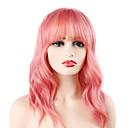 ราคาถูก วิกผมคอสตูม-วิกผมสังเคราะห์ Wavy บ๊อบตัดผม ผมเรียบตรง ผมปลอม สีชมพู ความยาวระดับกลาง Pink สังเคราะห์ 14 inch สำหรับผู้หญิง ปาร์ตี้ น่ารัก คุณภาพที่ดีที่สุด สีชมพู Laflare