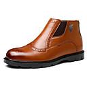 povoljno Muške čizme-Muškarci Udobne cipele PU Jesen zima Čizme Čizme gležnjače / do gležnja Braon / Lila-roza / Žutomrk