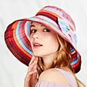 ราคาถูก ที่จัดเก็บของในครัว-Hiking Hat หมวก ปีกกว้าง 1 ชิ้น กันลม ป้องกันแดด ทน UV ระบายอากาศ สลับ POLY ฤดูใบไม้ผลิ สำหรับ สำหรับผู้หญิง แคมป์ปิ้ง & การปีนเขา ชายหาด การเดินทาง แดง