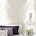 cheap Wallpaper-Wallpaper Nonwoven Wall Covering - Adhesive required Lines / Waves
