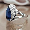 ราคาถูก แหวน-สำหรับผู้หญิง วงแหวน คำชี้แจง Ring เพชรสังเคราะห์ 1pc ฟ้า ทองแดง Geometric Shape อินเทรนด์ ปาร์ตี้ ของขวัญ เครื่องประดับ ปีกนางฟ้า เท่ห์