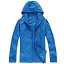ราคาถูก ชุดกันลม,เสื้อขนแกะ,แจ็กเก็ตสำหรับปีนเขา-สำหรับผู้ชาย สำหรับผู้หญิง Hiking Jacket กลางแจ้ง ฤดูใบไม้ร่วง ฤดูใบไม้ผลิ ป้องกันแดด ทน UV น้ำหนักเบาพิเศษ (UL) แห้งเร็ว Hoodie Tops Single Slider