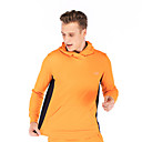 ราคาถูก สร้อยคอจี้-สำหรับผู้ชาย ลายต่อ Sweatshirtและมีฮู้ด ลายบล็อคสี วิ่ง การออกกำลังกาย Hoodie แขนยาว ชุดทำงาน Lightweight กันลม แห้งเร็ว นุ่ม ยืด