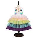 זול תחפושות מהעולם הישן-נסיכה Midi שמלה לנערת הפרחים  - שיפון / טול ללא שרוולים עם תכשיטים עם עלי כותרת / אפליקציות / ריקמה על ידי LAN TING Express
