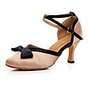 ราคาถูก รองเท้าเต้นโมเดิร์นและรองเท้าบัลเล่ต์-สำหรับผู้หญิง รองเท้าเต้นรำ หนังเทียม โมเดอร์น ส้น ส้นCuban ตัดเฉพาะได้ สีดำ / แดง / Nude / Performance / ฝึก