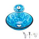 ราคาถูก ภาพวาดวิวทิวทัศน์-อ่างล้างหน้า / ก๊อกน้ำในห้องน้ำ / Bathroom Mounting Ring ร่วมสมัย - กระจกไม่แตกละเอียด สี่เหลี่ยมผืนผ้า Vessel Sink