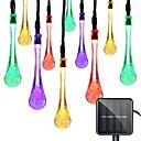 baratos Plantas Artificiais-1 conjunto led lanterna corda luz solar 10 m 50 tiras de luz gotas de água misteriosa gotas de água bolha gotas ao ar livre luzes à prova d 'água