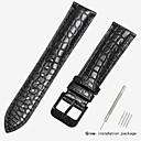 billiga Moderingar-Äkta Läder / Krokodilmönster Klockarmband Rem för Svart / Brun 18cm / 7 Specifikation / 19cm / 7.48 Specifikation 1.2cm / 0.47 Specifikation / 1.4cm / 0.55 Specifikation / 1.6cm / 0.6 Specifikation