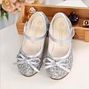 ราคาถูก Novelty Lighting-เด็กผู้หญิง รองเท้าสาวดอกไม้ Synthetics รองเท้าส้นเตี้ย เด็กวัยหัดเดิน (9m-4ys) / เด็กน้อย (4-7ys) สีทอง / เงิน ฤดูใบไม้ผลิ / ฤดูร้อน