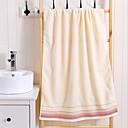 billige Badehåndkle-Overlegen kvalitet Badehåndkle, Linjer / bølger Bomull / Linblandning Baderom 2 pcs