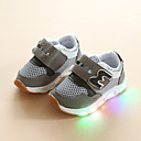 זול LED Shoes-בנות נעליים זוהרות רשת נעלי אתלטיקה פעוט (9m-4ys) / ילדים קטנים (4-7) ריצה / הליכה אפור / ורוד / כחול בהיר קיץ / גומי