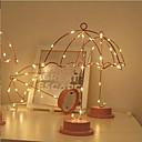 ราคาถูก Novelty Lighting-ไฟตกแต่ง ขาวนวล ใช้แบตเตอรี่ AAA Wedding / วันเกิด / ข้างเตียง แบตตารี่