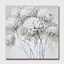 זול ציורים מופשטים-ציור שמן צבוע-Hang מצויר ביד - מופשט פרחוני / בוטני מודרני ללא מסגרת פנימית