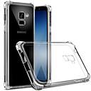 olcso Mobiltelefon tokok-Case Kompatibilitás Samsung Galaxy S9 / S9 Plus / S8 Plus Porálló / Átlátszó Fekete tok Átlátszó Puha TPU