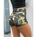 ราคาถูก ความปลอดภัยและการเอาชีวิตรอด-สำหรับผู้หญิง พื้นฐาน / Street Chic เพรียวบาง กางเกงวอร์ม / กางเกงขาสั้น กางเกง - Camouflage Color คลาสสิค / กีฬา สีบานเย็น อาร์มี่ กรีน M L XL