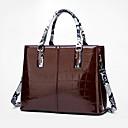 ราคาถูก กระเป๋า Totes-สำหรับผู้หญิง ซิป Patent Leather กรเป๋าหิ้ว หนังงู ทับทิม / สีม่วง / สีน้ำตาล / ฤดูใบไม้ร่วง & ฤดูหนาว