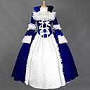 זול תחפושות מהעולם הישן-וינטאג' לוליטה נסיכה רוקוקו שמלות תחפושות קוספליי נקבה Japanese תחפושות Cosplay שחור / אדום / כחול טלאים פטאל שרוול ארוך מקסי ארוך / ויקטוריאני
