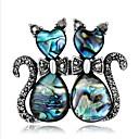 povoljno Značke i broševi-Žene Broševi Geometrijski Mačka Stilski Crtići Broš Jewelry Plava Za Vjenčanje Festival