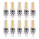 billige Damptilbehør-YWXLIGHT® 10pcs 3 W LED-lamper med G-sokkel 200-300 lm G4 T 12 LED perler SMD 5730 Varm hvit Kjølig hvit 12 V 24 V