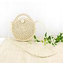 ราคาถูก กระเป๋า Totes-สำหรับผู้หญิง Straw กรเป๋าหิ้ว สีทึบ ผ้าขนสัตว์สีธรรมชาติ / สีน้ำตาล / ฤดูใบไม้ร่วง & ฤดูหนาว